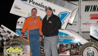 Chad Blonde claimed the 2011 opener at Michigan's Butler Speedway for the second-straight year in a dominating performance.