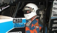 Chad Blonde won his second consecutive feature event Saturday night at Butler Motor Speedway.  Blonde started on the pole, held off early race challenges from Ken Mackey, and held on through several late race restarts for the victory.  Blonde was driving the Sean Robinson owned Pennington Gas Service, Buckshot Auto Sales, KLT sponsored Don Ott powered Maxim Chassis.