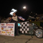 JoJo Helberg in victory lane. - David Sink Photo