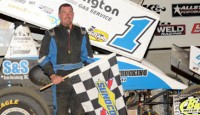 Chad Blonde won the Butler Speedway feature Saturday