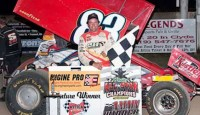 Tim Shaffer dominated the 40-lap feature Saturday at Attica Raceway Park, leading all 40 laps to claim his third straight All Star Circuit of Champions victory to increase his lead in the series' national and Ohio Region points standing.