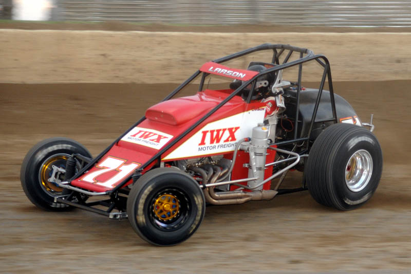 Kyle Larson in the Keith Kunz Silver Crown Car. - Jan Dunlap Photo