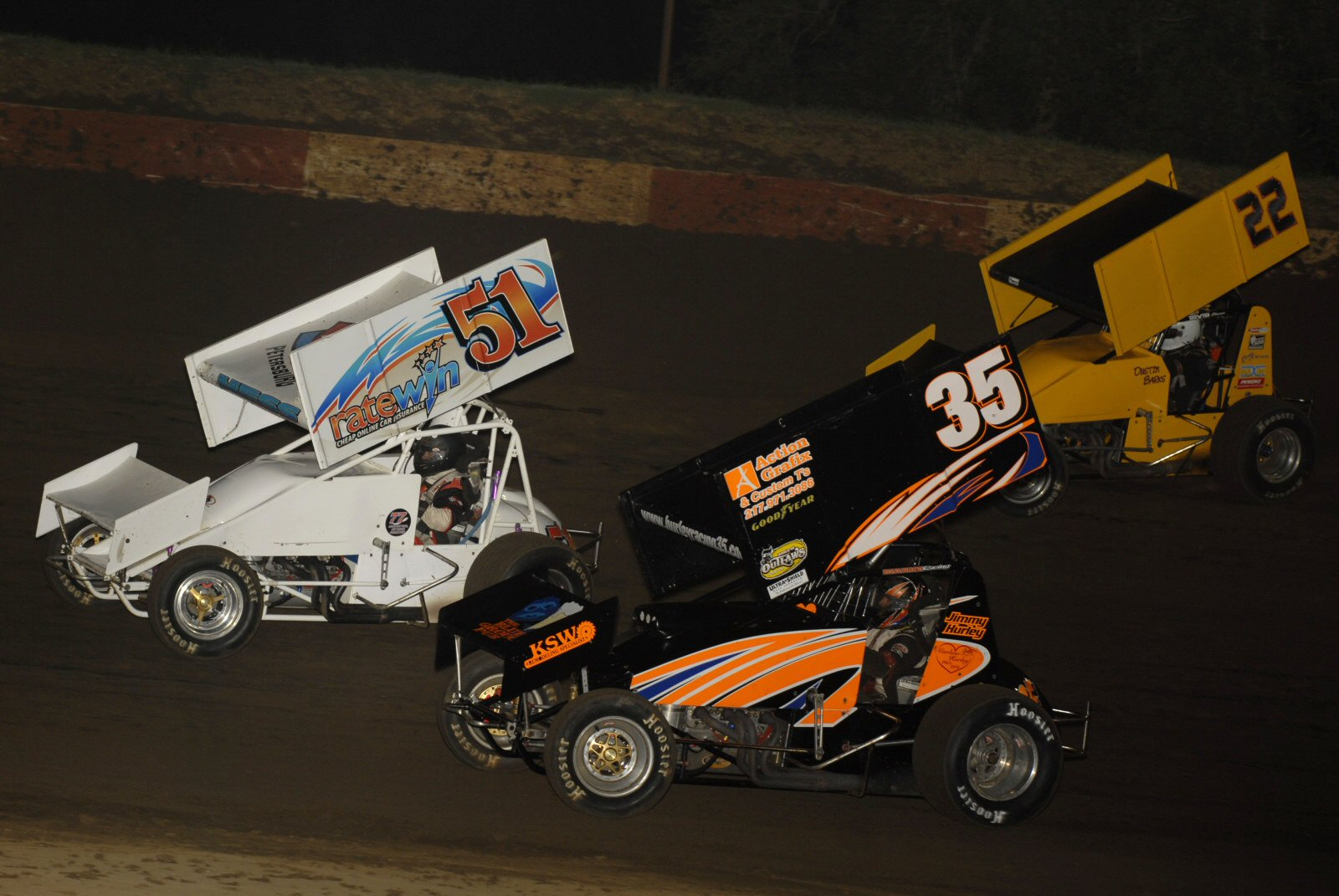 Mike Hess, Jimmy Hurley, and Dustin Barks at Peoria. - Mark Funderburk photos