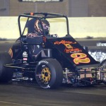 Tony Stewart in action during Rumble in the Expo. - Jan Dunlap Photo