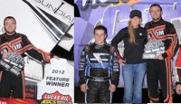 The 2012 season opener for the Lucas Oil American Sprint Car Series presented by MavTV saw Owasso, Oklahoma's Tony Bruce Jr. take the prelim night victory in the Copper Classic at Canyon Speedway Park in Peoria, Arizona.