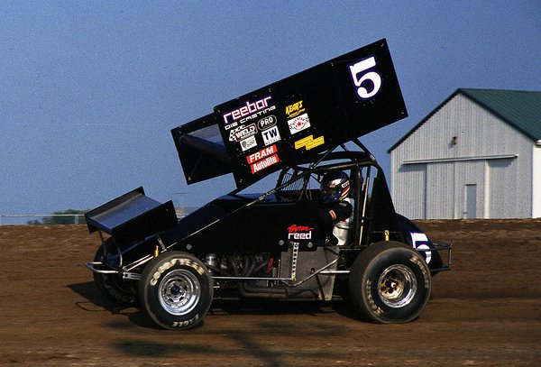 Byron Reed at Attica Raceway Park in 2001. - Jim Fisher / FSC Pictorial