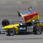 Jim Paller won the 30 lap supermodified feature on Sunday afternoon at the Winchester Speedway. - Bill Miller Photo