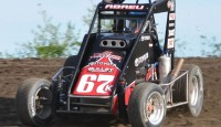 Rico Abreu won the opening night of the Belleville Nationals on Thursday night with the Honda USAC National Midget Car Series.