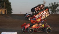 "Bryan Sebetto stalked Byron Reed for several laps Saturday at Fremont Speedway. When a lapped machine held Reed up ever so slightly, Sebetto pounced to take the lead and drove off for his second victory of the season at ""The Track That Action Built"" on Crown Battery Night."
