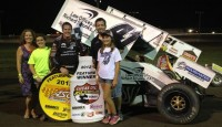 Jason Johnson was in the right place at the right time as the Law Office of Richard Strunks No. 41 sailed to his fifth Lucas Oil ASCS presented by MAVTV triumph of the 2012 season.