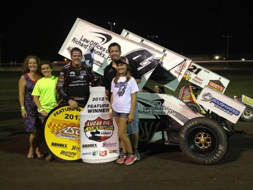 Jason Johnson took his fifth Lucas Oil ASCS victory of 2012 at the Salina Highbanks in Salina, Oklahoma. Photo Credit: JJR