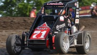 Kyle Larson added to his legend on Sunday night winning the USAC / CRA-Western Classic sprint car and Western Midget Car Series portions of the Louie Vermeil Classic...
