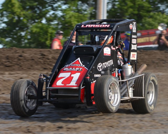 Kyle Larson. - Bill Miller Photo