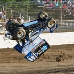 Shawn Dancer getting air time at Limaland Motorsports Park. - Mike Campbell Photo
