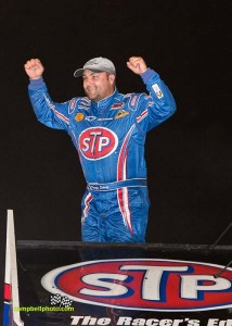Donny Schatz won the National Speed Sport News World Challenge at Knoxville Raceway.  - Mike Campbell/campbellphoto.com