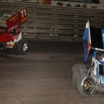 Ricky Stenhouse Jr (6) powers by RJ Johnson (71) during 360 Nati