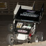 Kyle Larson (1K) slides by Terry McCarl (94) during 360 National
