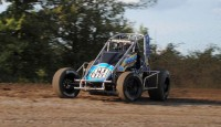 Jonathan Hendrick won the $5,000 top prize in the Hoosier Fall Nationals Saturday night at Tri-State Speedway.