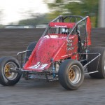 Mike Fedorcak made a rare sprint car start tonight at the Gas City I-69 Speedway. -  Bill Miller Photo