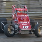 Billy Puterbaugh, Jr. was crowned the 2012 Gas City I-69 Speedway sprint car track champion. - Bill Miller Photo