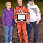 Long time midget and sprint car driver Ted Hines was the recipient of the 2012 Vince Osman Sportsmanship Award. - Bill Miller Photo