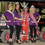 Kyle Larson after winning the Midget Car feature at the 4-Crown Nationals. - Jan Dunlap Photo