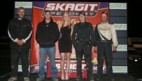 Skagit Speedway, an ASA Member track, crowned 4 brand new track champions Saturday night. Eric Fisher is the 410 Sprint champion, Trevor Turnbull the 360 Sprint Champion, Steve Parker won his second Sportsman Sprint Championship and Freddie Vela is the lone repeat winner with his second straight Outlaw Hornet Champion.