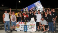 Jeff Swindell made it a perfect weekend in the Randy Washburn owned No. 0, taking the $4,000 victory Sunday night in the Wicked City Shootout at Dodge City Raceway Park.