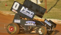 Rick Lafferty won the Jason Leffler Tribute Race Sunday night at Bridgeport Speedway.