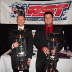 Scott Kreutter (Left) of Alden, NY Claimed the 2012 Patriot Sprint Tour America Championship along with the $10,000 payout while Justin Barger (Right) of Montrose, NY scored the first ever Patriot Sprint Tour Canada Title and were honored Saturday Night at the Patriot Sprint Tour Awards Banquet in Rush, NY. - PST Photo