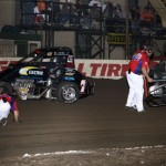 J.D. Black (7JR) and Johnny Murdock (0Z) tangle at the 2013 Chil