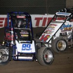 Josh Lakatos (89K) and Matt Westfall (14W) bump during D feature