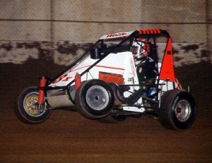 John Wolfe at the 2001 Chili Bowl Nationals. - Russ Labounty Photo
