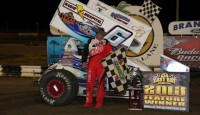 Tim Shaffer won the opening night of sprint car racing during the 37th Annual Winter Nationals Thursday night at East Bay Raceway Park.