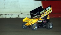 Steve Poirier has been arguably the hottest sprint car driver in the northeast over the last seven months, so when he drew the pole for the feature Saturday Night at Merrittville many would assume he would easily claim the win; while he would indeed win, it was far from a runaway.