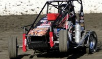 Norco's Cody Swanson added his name to the record books by leading all thirty laps at Bakersfield Speedway. The Saturday night feature victory was Swanson's first career USAC Western Midget Series triumph as the group heads to Ventura on April 6th. Ronnie Gardner, Jake Swanson, Ryan Bernal, and David Prickett rounded out the top-five drivers.