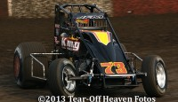 Ryan Bernal won the USAC Western Classic sprint car feature Saturday night at Placerville Speedway.