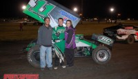Roger Crockett won the sprint car feature Friday night at Silver Dollar Speedway.  Sean Becker, Willie Croft, Andy Forsberg, and Mason Moore rounded out the top five.