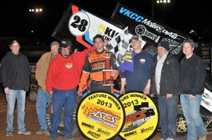 Jonathan Cornell raced to his first Warrior Region victory of the 2013 season at the Springfield Raceway in the combined regional challenge with the American Bank of Oklahoma Sooner Region. (ASCS/Paul Gray Photo)