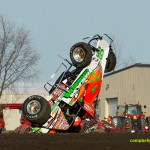 Brady Bacon upside down in qualifications. - Mike Campbell Photo