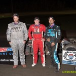 (l to r) Robert Ballou, winner Kevin Thomas, Jr., and Thomas Meseraull. - Mike Campbell Photo