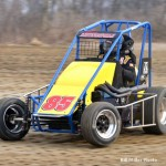 Shane Hollingsworth was the winner of the 20 lap midget feature event. - Bill Miller PHoto
