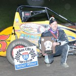Toby Alfrey in victory lane.- Bill Miller Photo