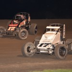 Kevin Thomas Jr. (#17 outside) and Thomas Meseraull (#17 inside) battle for the lead. . - Bill Miller Photo