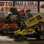 Chad Blonde (#7) gets upside down and collects Robert Ballou (#12). - James McDonald / Apexonephoto