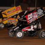 Greg Wilson (#w20) racing with Joey Saldana (#71m) at Tri-State Speedway. - James McDonald / Apexonephoto