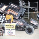 Nate Dussel 305 sprint feature winner. - Action Photo