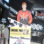 Sheldon Haudenschild,  410 sprint feature winner. - Action Photo