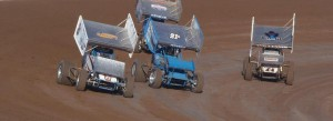 Sprint cars racing at Central Arizona Speedway. - Taylor Ward Photo