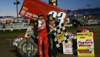 Tim Shaffer iced the field to open Fremont's Speedway's 62nd year of racing Saturday.